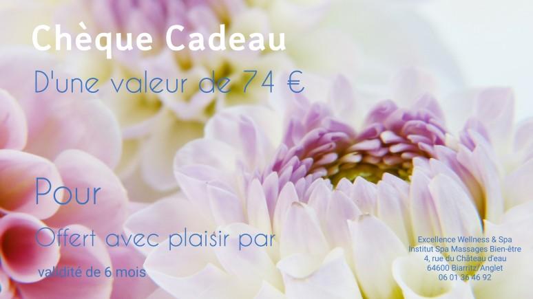 chèque Cadeau Excellence Wellness Spa, Massages Bien-être et Beauté, Rituels Spa, Soins Corps et visages, relaxant, détente, Bayonne, Anglet, Biarritz, Hendaye.